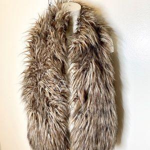 Kenar Taupe Grey Faux Fur Vest M